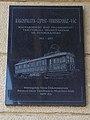 Az ország első villamosított vasútvonala megnyitásának 100. évfordulójára emléktábla, 2019 Veresegyház.jpg