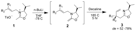 An example of the Aza–Claisen rearrangement