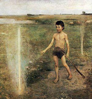 Béla Iványi-Grünwald - Image: Béla Iványi Grünwald The Warrior's Sword (1890)