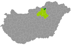 Bélapátfalva District within Hungary and Heves County.