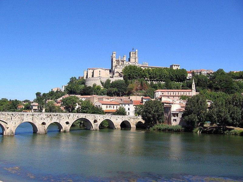 File:Béziers St Nazaire Pont Vieux.jpg