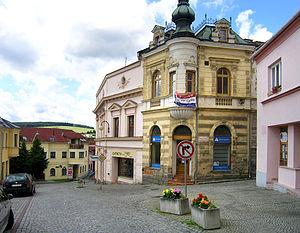 Bílovec - Image: Bílovec, Tkalcovská str