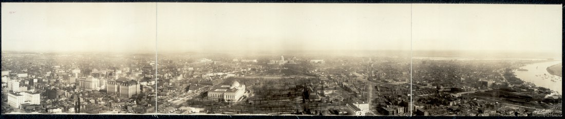 View from the Washington Monument looking east - 1912