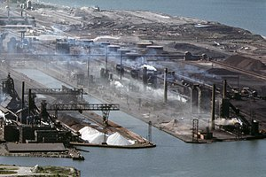 Bethlehem Steel - Bethlehem Steel plant on Lake Erie in Buffalo, New York, 1973