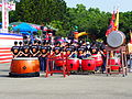 Back View of Army Academy R.O.C. Military Drums Team Stand by at Chengkungling Ground 20131012a.jpg