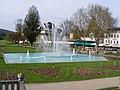 Bad Kissingen - Rosengarten mit Springbrunnen.JPG
