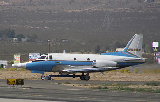 North American Sabreliner - BAE Systems Flight Systems T-39A flight test aircraft at the Mojave Airport