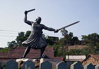 Panhala Fort - Statue of Baji Prabhu Deshpande at Panhala