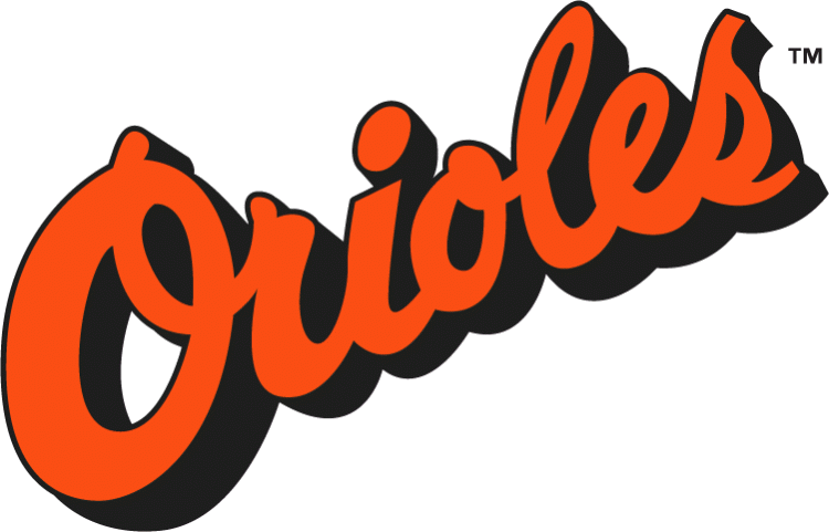 Baltimore Orioles wordmark 1988 to 1994