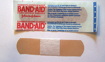 en: Photo of a Band-Aid manufactured by Johnso...