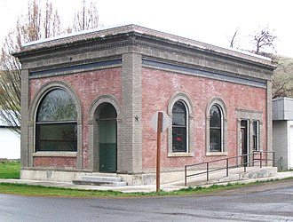 National Register of Historic Places listings in Columbia County, Washington - Image: Bank of starbuck 1903 Copy