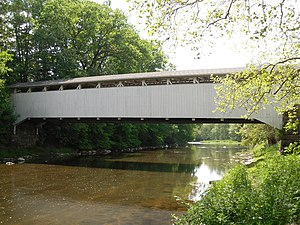Banks Covered Bridge - Image: Banks Covered Bridge, eastern side
