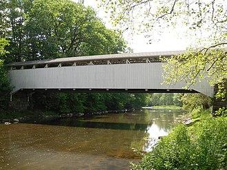 Banks Covered Bridge - Image: Banks Covered Bridge, eastern side