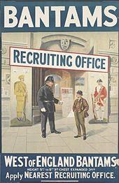 Bantams recruiting poster WWI