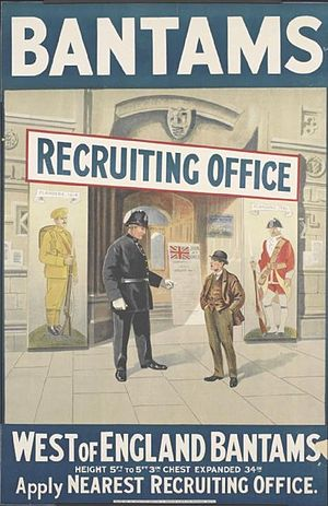 Bantam (military) - World War I recruiting poster