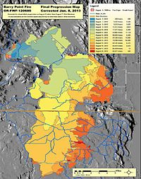 Southern Oregon Wildfire Map.Barry Point Fire Wikipedia