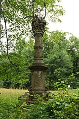 Holy Trinity column in Bartošovice v Orlických horách