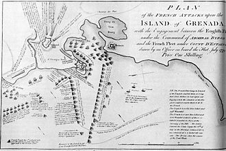 Capture of Grenada (1779) - Plan of the French attacks
