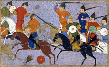 Battle between Mongols and Chinese