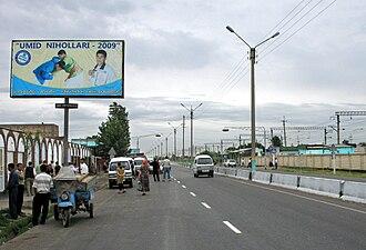 Baxt - M34 highway in Baxt