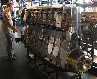 R101 - Beardmore Tornado engine on display in the Science Museum in London