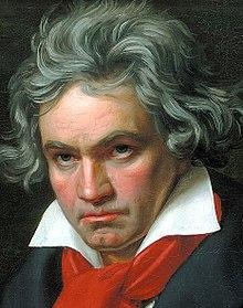 2e0f31c4c7 Particolare del viso del ritratto di Beethoven mentre compone la Missa  Solemnis, eseguito da Joseph Karl Stieler, 1820, olio su tela, 62x50 cm,  Bonn, ...