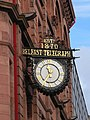 Belfast, Telegraph newspaper office (clock detail) - geograph.org.uk - 611301.jpg