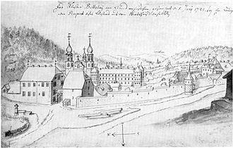 Emanuel Büchel - One of Büchel's sketches.