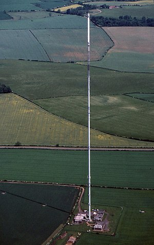 Belmont transmitting station - View from the air in July 1990