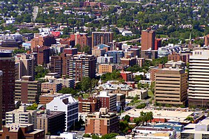 Beltline, Calgary - The high density residential buildings in the Beltline district