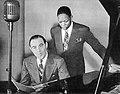 Benny Goodman and Charlie Christian (1941-04 photo at Carl Fischer studio).jpg