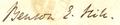 Benson E. Hill sig.png