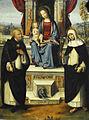 Benvenuto Tisi (Il Garofalo 1481-1559) Maagd en Kind met Dominicus en Catharina van Siena - National Gallery Londen 5-3-2015 11-05-39.JPG