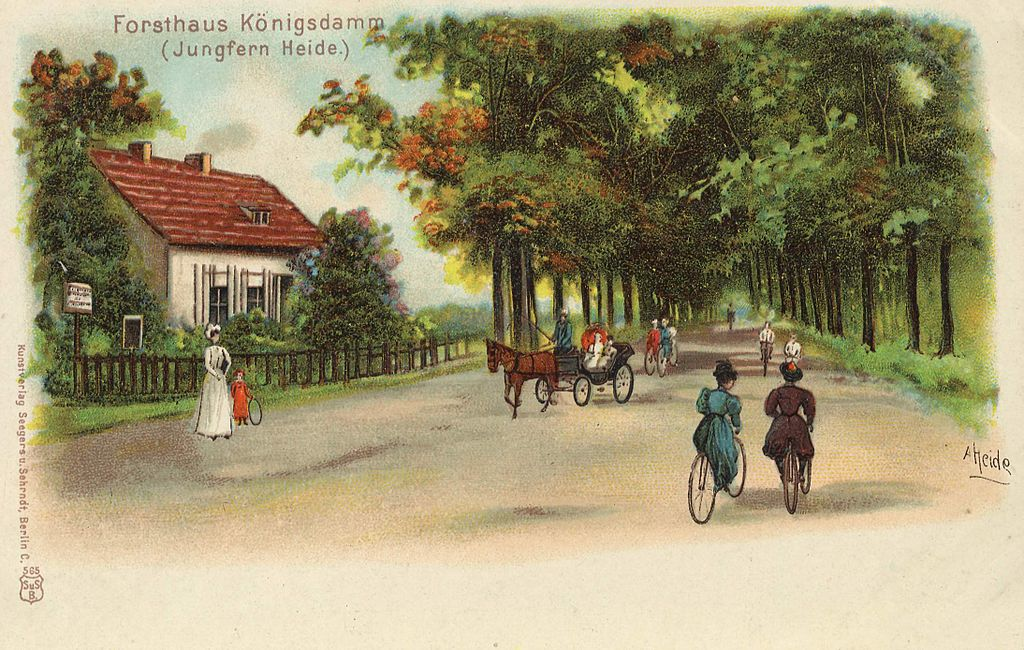 Parc de Jungfernheide dans le quartier de Charlottenburg à Berlin (vers 1900).