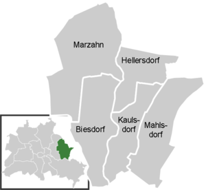 District map of Marzahn-Hellersdorf