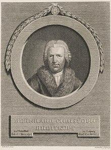 Bernhard Christoph Breitkopf (Quelle: Wikimedia)
