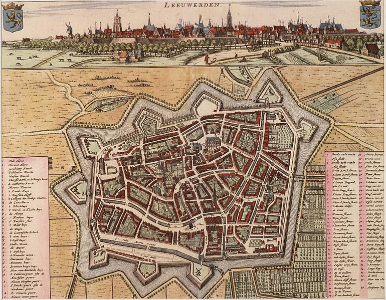 Historical map of Leeuwarden