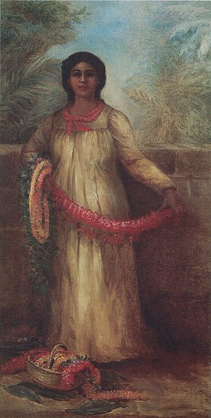 File:Bessie Wheeler - 'Flower Lei Seller', oil on canvas, c. 1900.jpg