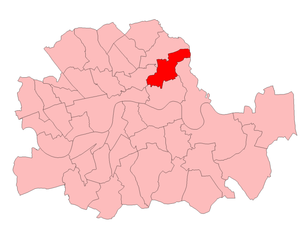 Bethnal Green (UK Parliament constituency) - Bethnal Green in the County of London 1955-74