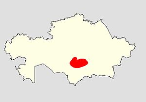 Betpak-Dala - location within Kazakhstan