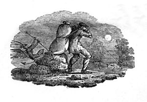 """Thomas Bewick's A History of British Birds illustration which Jane terms """"an object of terror."""""""