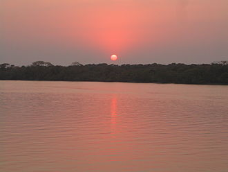 Bhitarkanika Mangroves - Bhitarkanika Mangroves at sunset