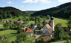 Münsingen, Germany - Bichishausen im Großen Lautertal