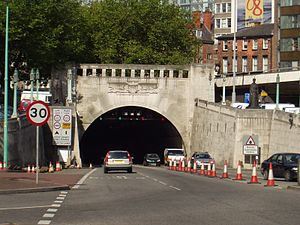Mersey Tunnels - Liverpool entrance to the Queensway Tunnel