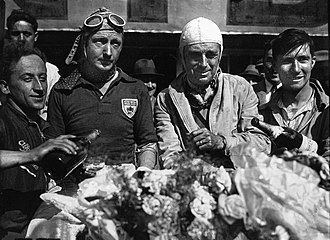 Francis Curzon, 5th Earl Howe - Earl Howe (right) and 'Tim' Birkin after their victory in the 1931 24 Hours of Le Mans race