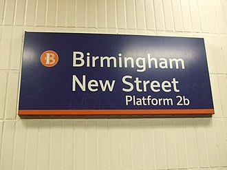 Birmingham station group - Birmingham New Street station sign