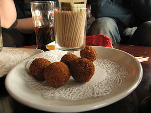 Bitterballs a small croquette eaten as a snack...