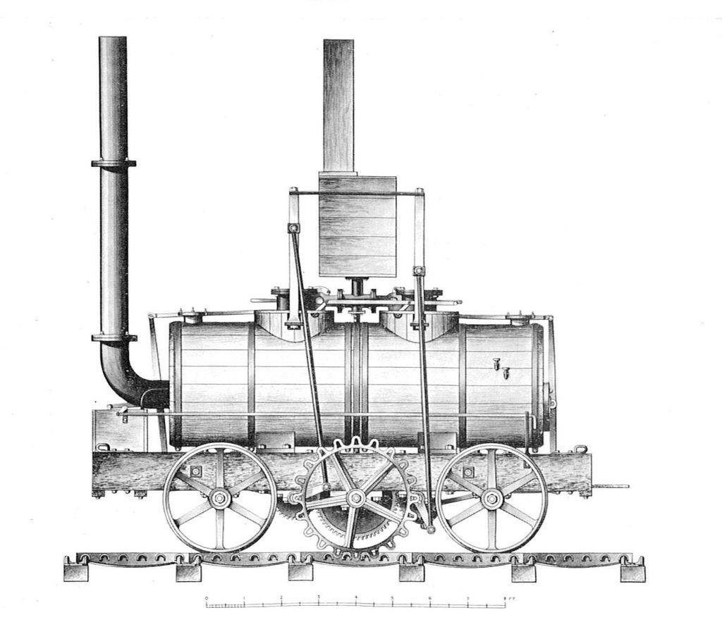 Blenkinsop's rack locomotive, 1812 (British Railway Locomotives 1803-1853).jpg