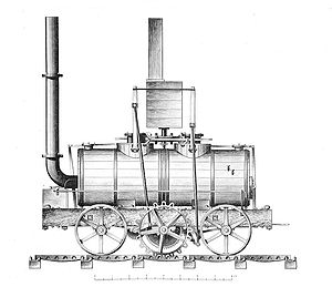 Flued boiler - Middleton locomotive
