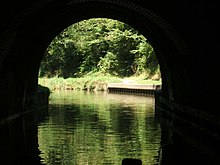 Blisworth Tunnel, North Entrance from inside tunnel - geograph.org.uk - 272567.jpg